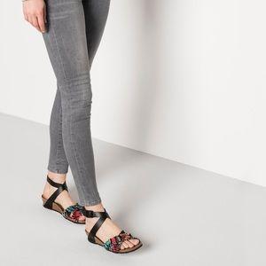 Birkenstock Lola By Papillio Flower frill sandals